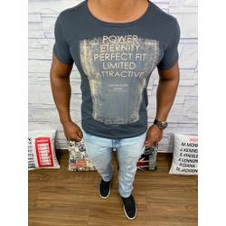 Camiseta Calvin Klein - Chumbo⭐ - CALV1 - VITRINE SHOPS