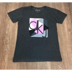 Camiseta Calvin Klein Chumbo⭐ - CALV14 - VITRINE SHOPS