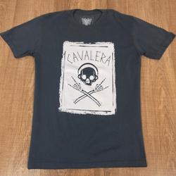 Camiseta Cavalera Cinza⭐ - Shopgrife