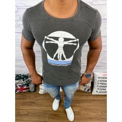 Camiseta OSK - Chumbo ⭐ - O16 - Queiroz Distribuidora Multimarcas