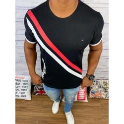 Camiseta Tommy - Diferenciada Preta - CTHP04 - RP IMPORTS