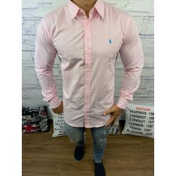 Camisa Manga Longa RL Micro xadrez rosa claro - ca... - DROPA AQUI