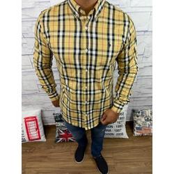 Camisa Manga Longa RL Xadrez Amarelo - CLRL123 - BARAOMULTIMARCAS