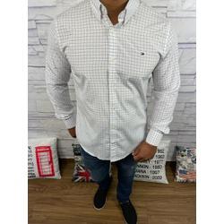 Camisa Tommy Manga Longa Xadrez Branco - CMTH45 - RP IMPORTS