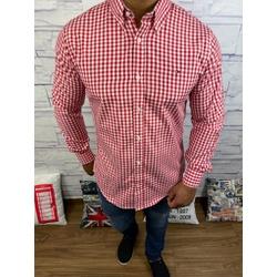 Camisa Tommy Manga Longa Xadrez Vermelho - CMTH37 - RP IMPORTS
