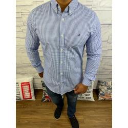 Camisa Tommy Manga Longa Xadrez Azul - CMTH41 - RP IMPORTS
