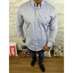 Camisa Tommy Manga Longa Cinza Logo Branco - CMTH4 - RP IMPORTS