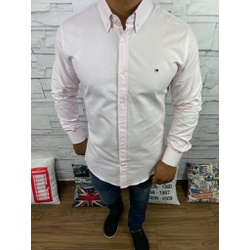 Camisa TH Manga Longa Rosa Claro⭐ - CMTH47 - Out in Store