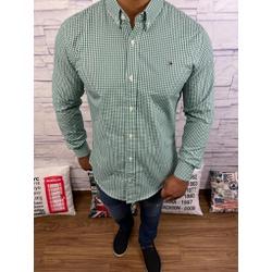 Camisa Tommy Manga Longa Xandrez Verde - CMTH42 - RP IMPORTS