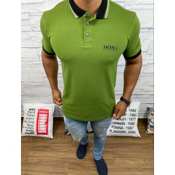 Polo HB Verde Abacate⭐ - PHBS35 - Out in Store