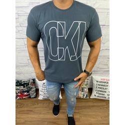 Camiseta CK Cinza Escuro - Shopgrife