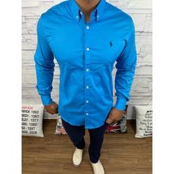 Camisa Manga Longa RL Azul Turquesa - CLRL120 - Queiroz Distribuidora Multimarcas
