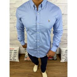 Camisa Manga Longa RL Azul Fechado⭐ - CLRL116 - BARAOMULTIMARCAS