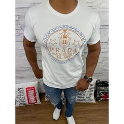 Camiseta Prada Branca - CAPRD01 - Queiroz Distribuidora Multimarcas