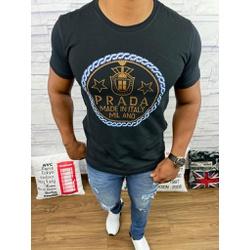Camiseta Prada Preto - CAPRD02 - Queiroz Distribuidora Multimarcas