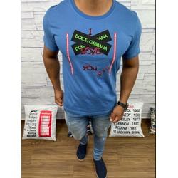 Camiseta Dolce g Cinza Fechado - CDG48 - RP IMPORTS