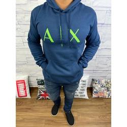 Blusa de Frio Armani Marinho Logo verde - bfar03 - Out in Store