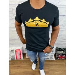 Camiseta Dolce G Preto - CDG76 - Queiroz Distribuidora Multimarcas
