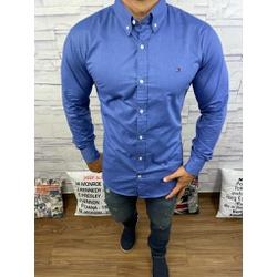 Camisa Tommy Hilfiger Manga Longa Azul Royal - CMT... - RP IMPORTS