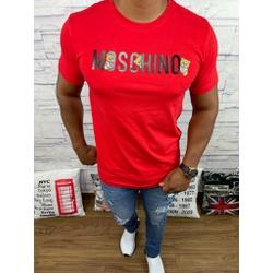 Camiseta Moschino Vermelho - CAMMCH03 - Queiroz Distribuidora Multimarcas