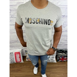 Camiseta Moschino Cinza - CAMMCH02 - Queiroz Distribuidora Multimarcas