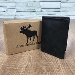 Porta Cartão Abercrombie Fóssil Preto - AB0002 - Out in Store