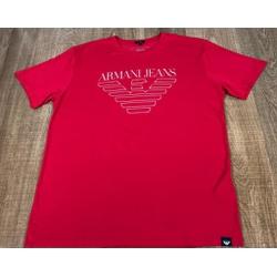 Camiseta Armani Vermelho⭐ - ca0133 - DROPA AQUI