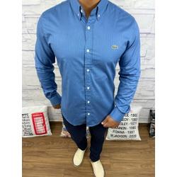 Camisa Social Manga Longa LCT Azul dth na Estampa ... - Out in Store