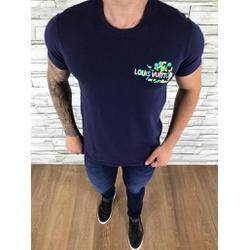 Camiseta Louis Vuitton Azul Marinho - CAMLV09 - Out in Store