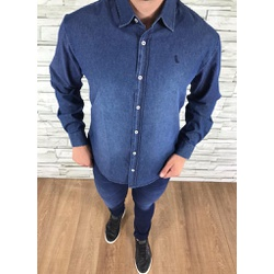 Camisa Social Jeans Manga Longa Rv ⭐ - camp010 - Out in Store