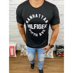 Camiseta Tommy Preto Linha Vermelha - CITH171 - BARAOMULTIMARCAS
