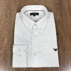 Camisa Manga Longa Armani Branco Riscado - CMLAX32 - RP IMPORTS