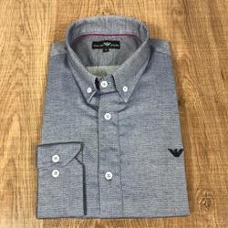 Camisa Manga Longa Armani Cinza Detalhado - CMLAX3 - RP IMPORTS