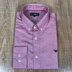 Camisa Manga Longa Armani Vinho - CMLAX39 - RP IMPORTS