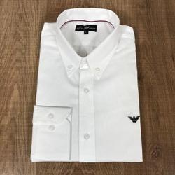 Camisa Manga Longa Armani Branco liso - CMLAX50 - RP IMPORTS