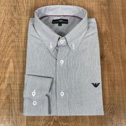 Camisa Manga Longa Armani Mini Listrado Marinho - ... - RP IMPORTS
