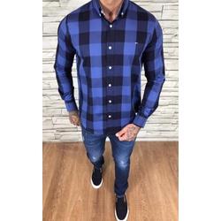 Camisa TH Manga Longa Marinho Xadrez Azul - CMTH56 - Out in Store