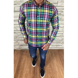 Camisa TH Manga Longa Xadrez Colorido - CMTH59 - Out in Store