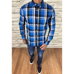Camisa TH Manga Longa Xadrez Azul - CMTH68 - Out in Store