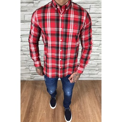 Camisa TH Manga Longa Xadrez Vermelho - CMTH69 - Out in Store