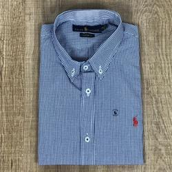 Camisa Manga Curta Rl Listra Azul - CRLMC105 - RP IMPORTS