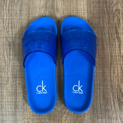 Chinelo Slide CK Azul Vinil - CSCK04 - Out in Store