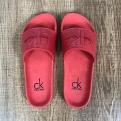 Chinelo Slide CK Vermelho Fosco - CSCK05 - Out in Store
