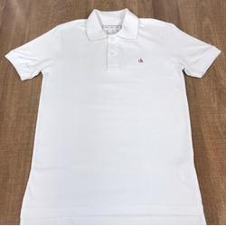 Polo CK Branco logo Vermelho⭐ - PCK6281 - BARAOMULTIMARCAS