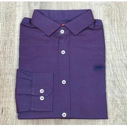 Camisa Manga Longa DG Roxo Detalhe Azul - CDP05 - Out in Store
