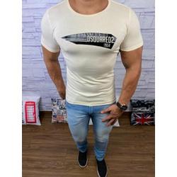 Camiseta Dsquared2 Creme⭐ - CDS16 - Queiroz Distribuidora Multimarcas
