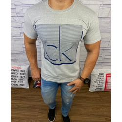 Camiseta Calvin Klein Cinza⭐ - CALV33 - VITRINE SHOPS