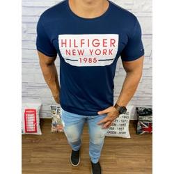 Camiseta Tommy Hilfiger- Diferenciada Azul Marinho... - BARAOMULTIMARCAS