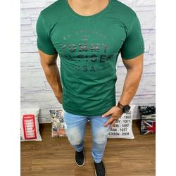 Camiseta Tommy Hilfiger- Diferenciada Verde⭐ - Shopgrife