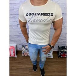 Camiseta Dsquared2 Creme⭐ - CDS23 - Queiroz Distribuidora Multimarcas